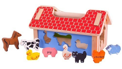 Bigjigs Toys Farm House Sorter