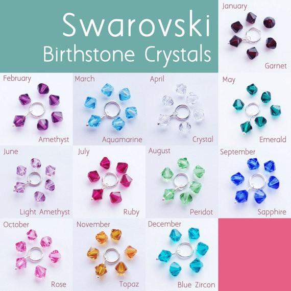 Swarovski birthston crystals