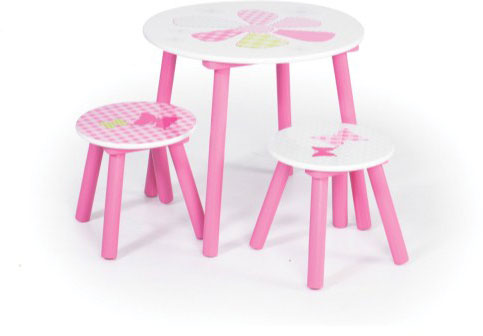 Worlds Apart Girls Patchwork Table And Stools