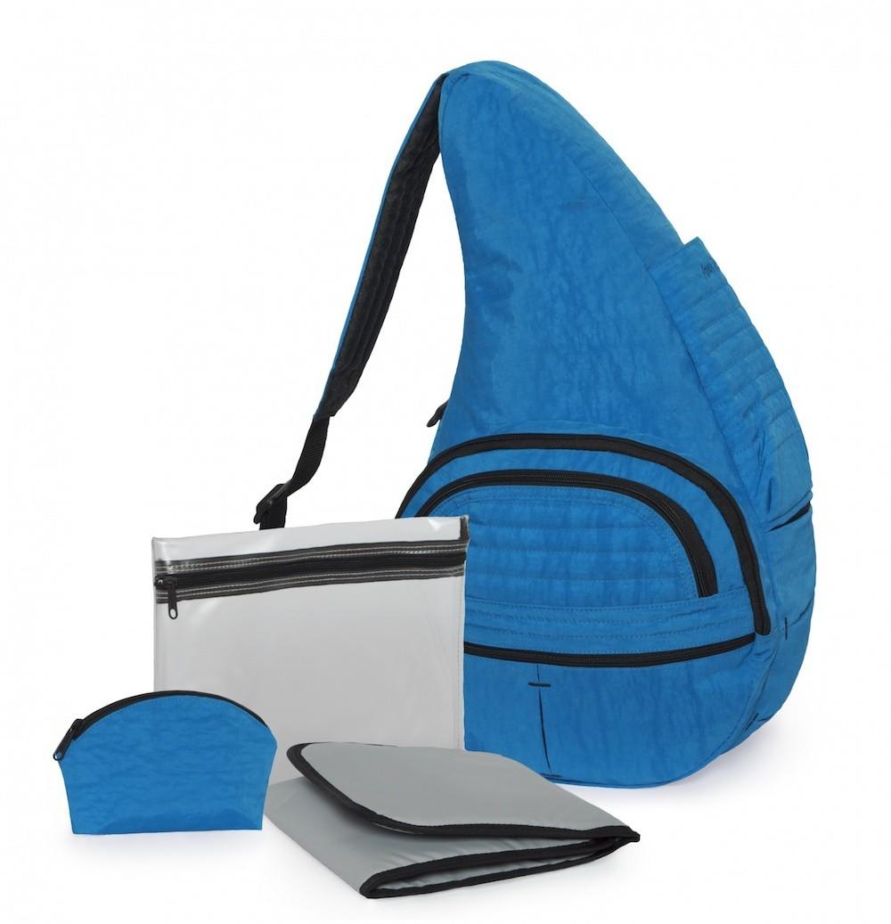 Textured Nylon Bluebird Baby Bag