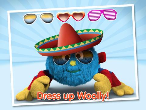 Dress up Woolly (iPad app screenshot)