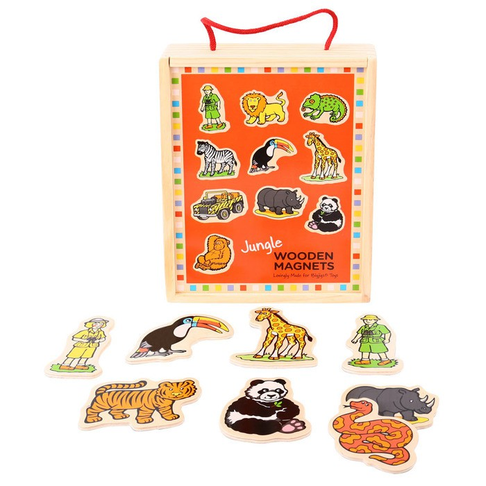 Bigjigs Wooden Jungle Magnets