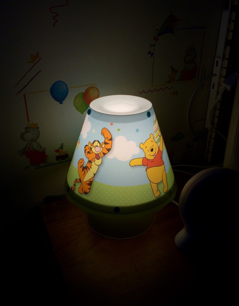 Charity shop finds winnie the pooh mama geek as well as the lamp they had a few winnie the pooh pictures and one of them was this canvas that matches the lamp perfectly mozeypictures Images