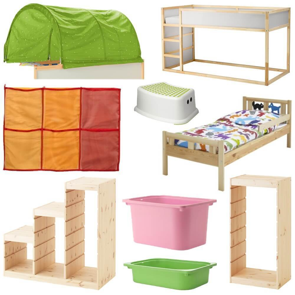 our ikea hack toddler friendly bunkbed kura kritter trofast mama geek. Black Bedroom Furniture Sets. Home Design Ideas