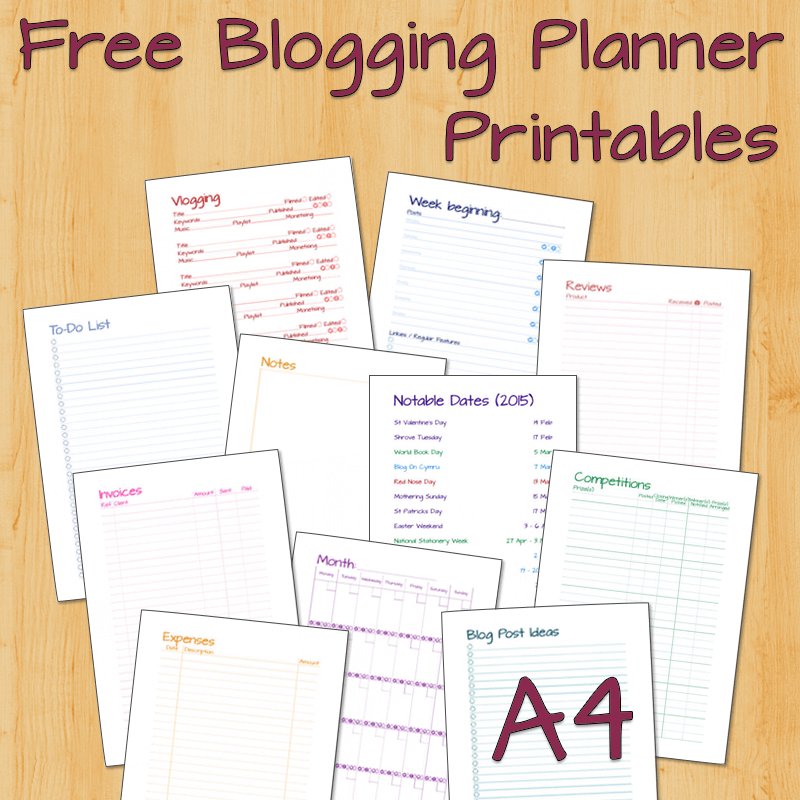 photograph about Printables Blog identified as Running a blog Planner (A4) - Cost-free Printables! ⋆ Mama Geek