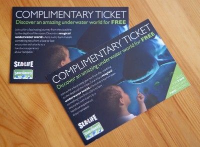 Sea Life Centre ticket competition