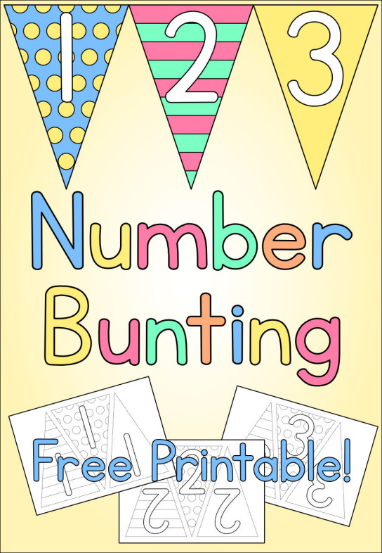 Number Bunting - Free Printable - Kids Crafts