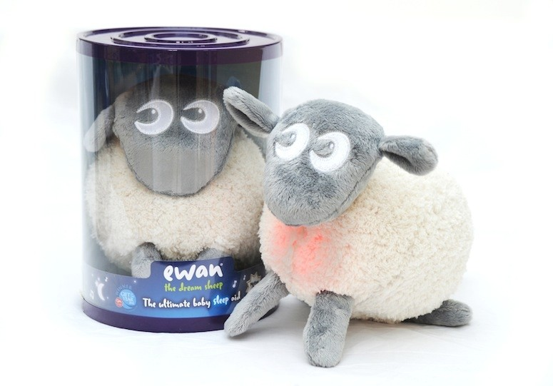 Our new grey ewan the dream sheep® has all the same features as our original purple ewan®, he just has a grey fleece! ewan the dream sheep® emits soothing sounds at a low base frequency and a calming pink warm glow, which when combined, help settle babies and toddlers into a peaceful sleep.