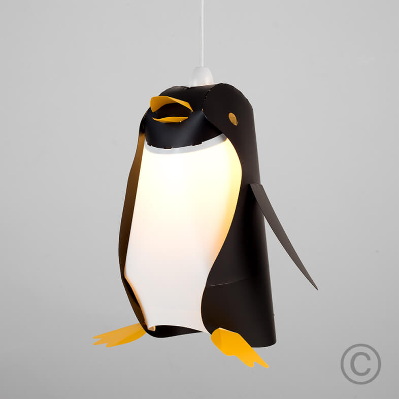 FUNKY PENGUIN CEILING PENDANT SHADE IN BLACK 1