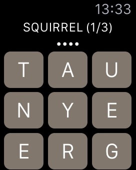 Seriously, if anyone can tell me a 4 letter word (not grey/gray) to do with squirrel from this lot? I am STUCK