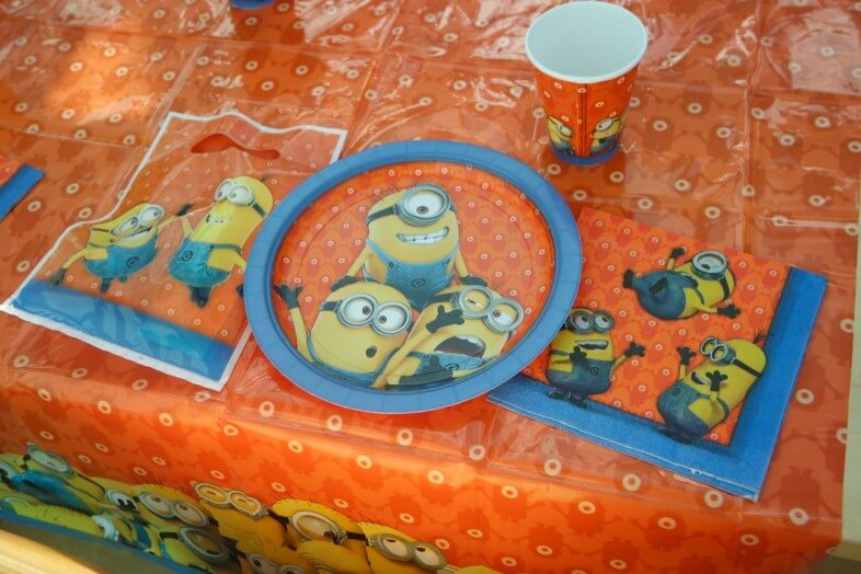 Table laid with Minions partyware