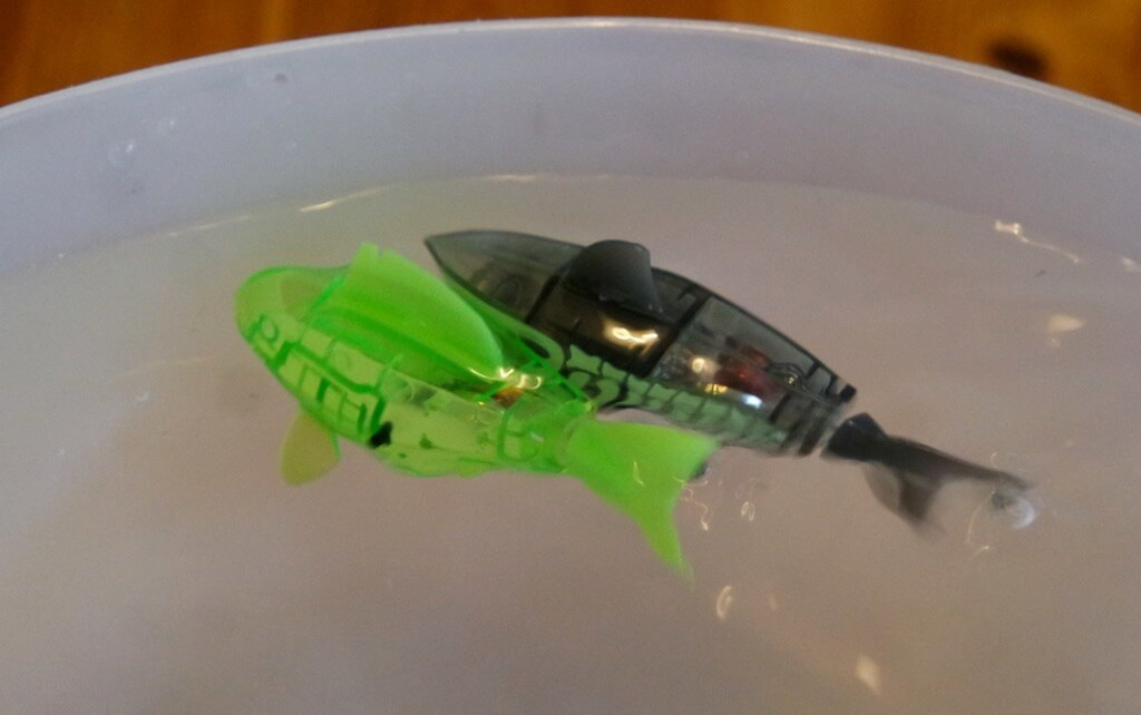 Review hexbug aquabot robotic fish mama geek for Hex bug fish