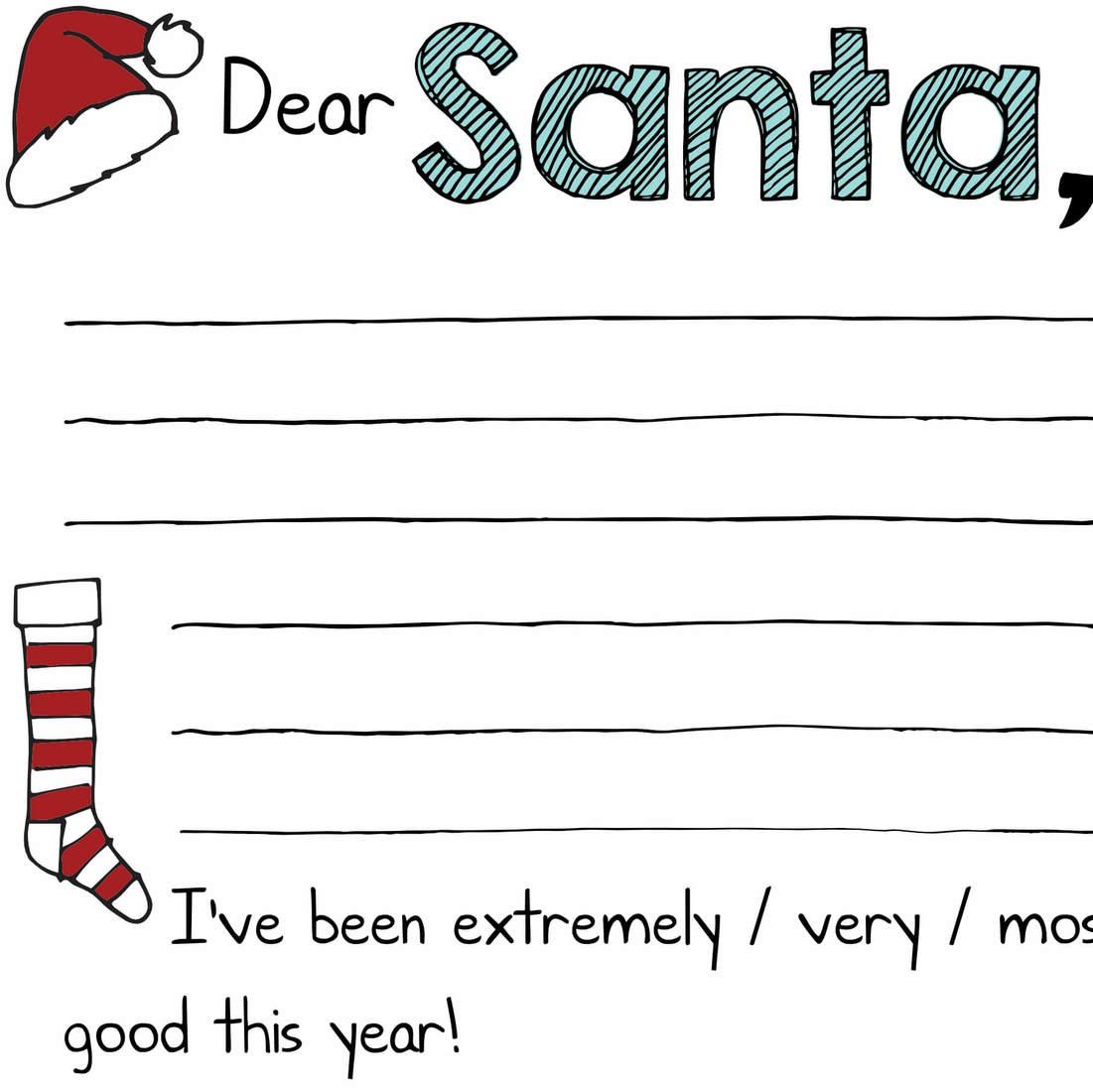 Free Christmas Printables Quot Dear Santa Quot Letters ⋆ Mama Geek