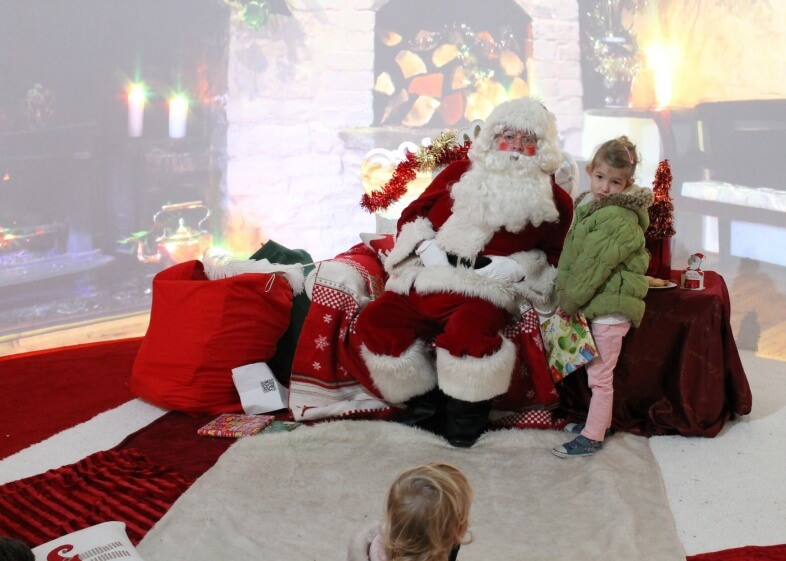 Georgie with Santa at Santa's Grotto, Bullring