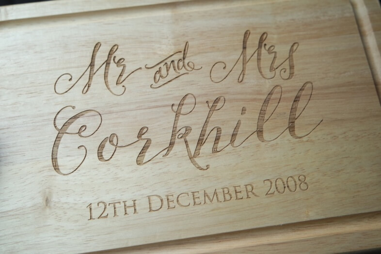 Burn Me On Anniversary Personalised Chopping Board