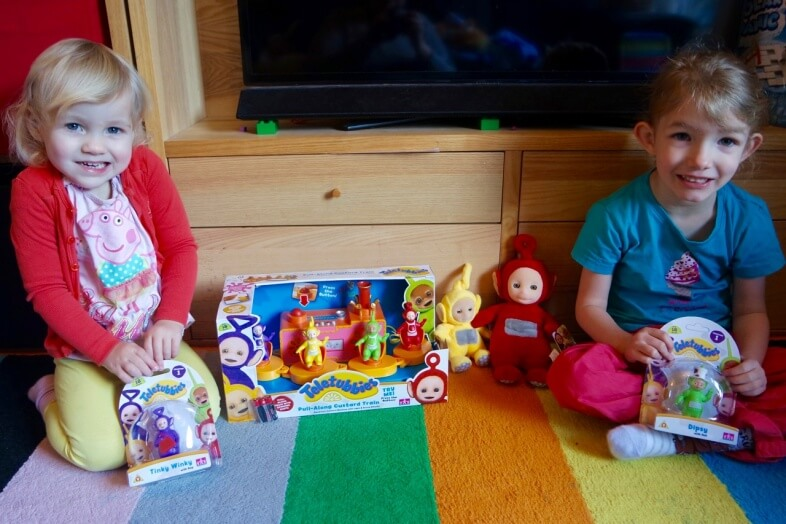 Some of the new Teletubbies toy range