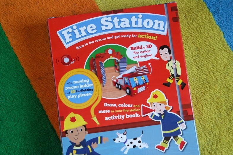 Fire Station activity book & play set from Parragon Books