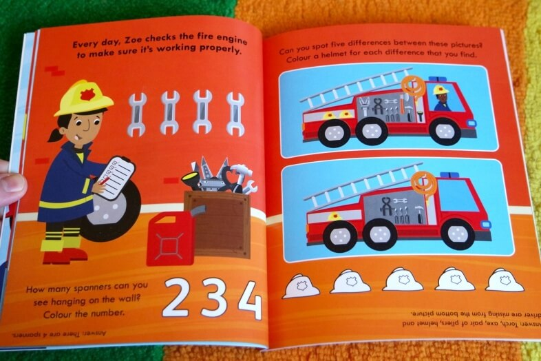 Fire Station Activity Book