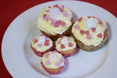 Valentine's Day Love Hearts Cupcakes