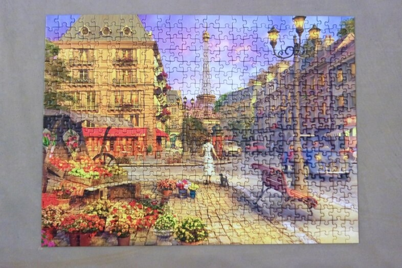 Completed jigsaw - Ravensburger - An Evening Walk - jigsaw puzzle review