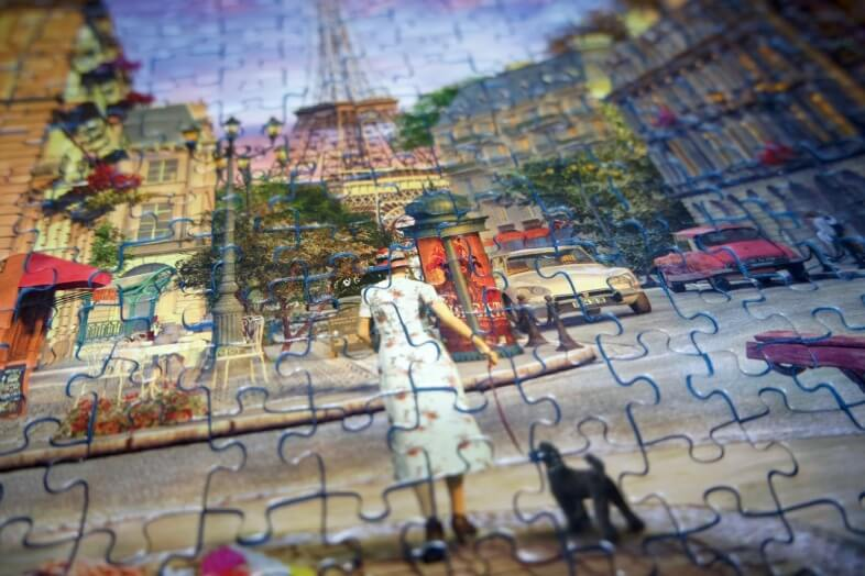 SoftClick technology - Ravensburger - An Evening Walk - jigsaw puzzle review
