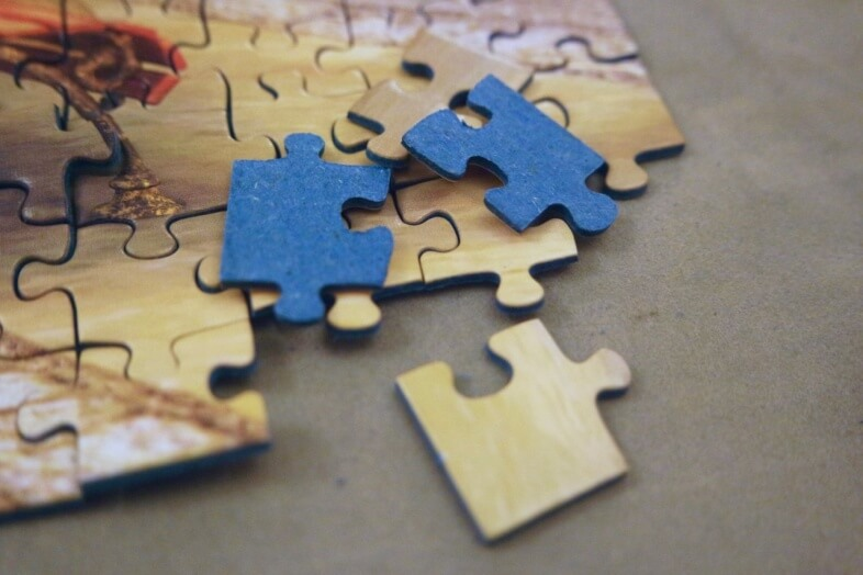 Jigsaw pieces - Ravensburger - An Evening Walk - jigsaw puzzle review