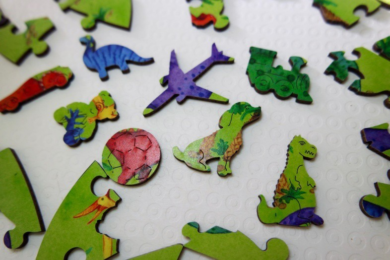 Dino whimsies - Wentworth Alphabet Letter Jigsaw