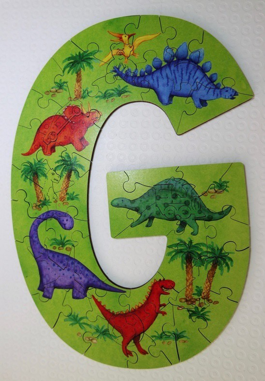 Dinosaur G - Wentworth Alphabet Letter Jigsaw