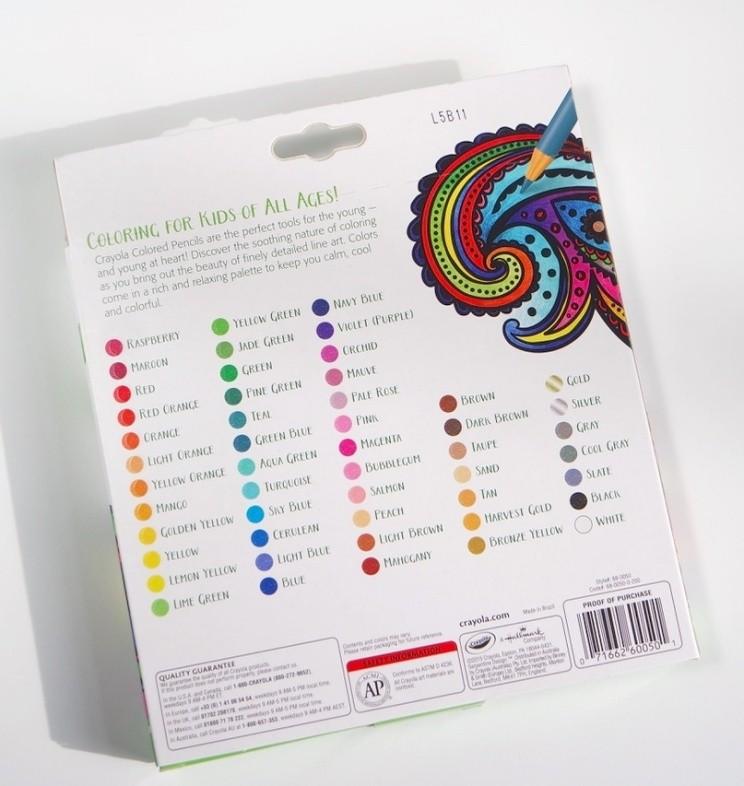 Crayola adult colouring pencils