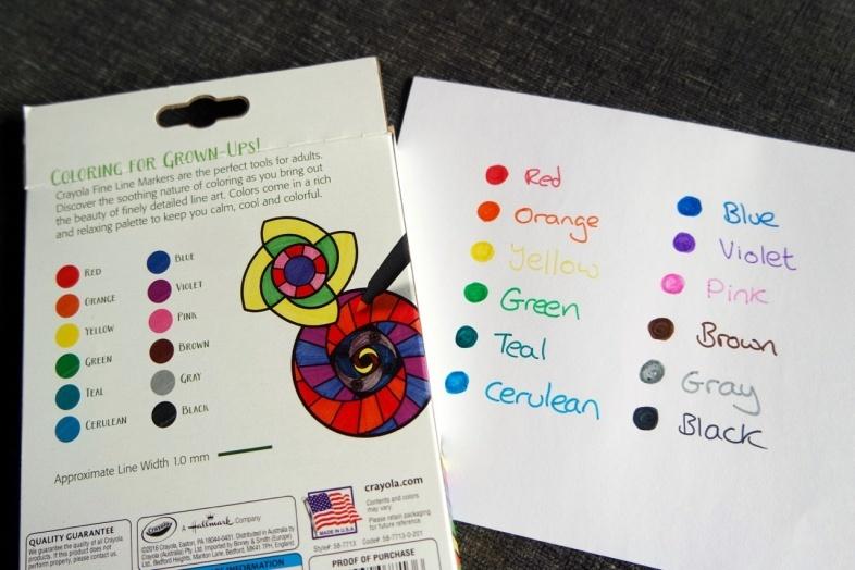 Crayola adult markers