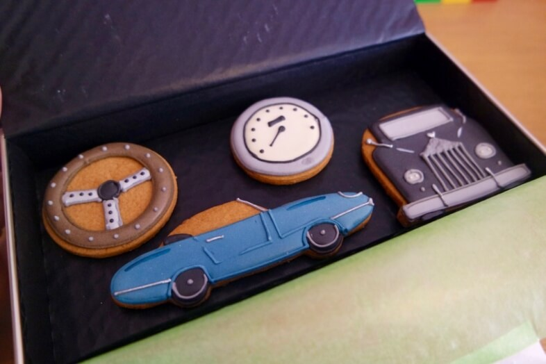 Biscuiteers classic car biscuits