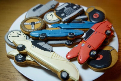 Biscuiteers Classic Car biscuits