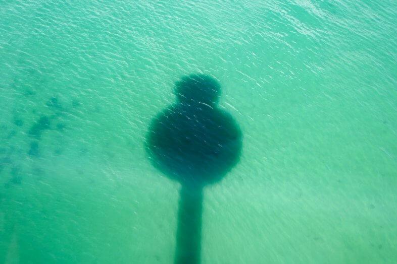 Shadow of Jurassic Skyline Tower, Weymouth