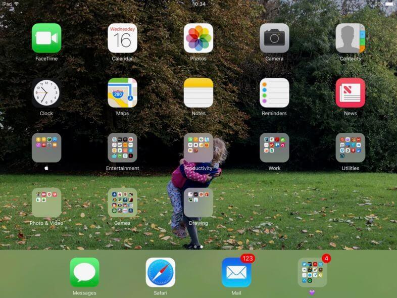 iPad Home Screen