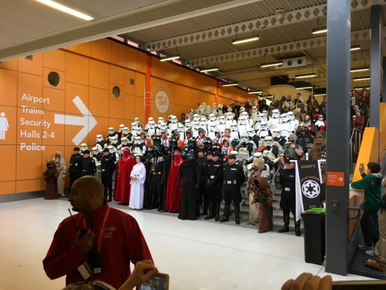 Garrison of storm troopers at MCM Comic Con