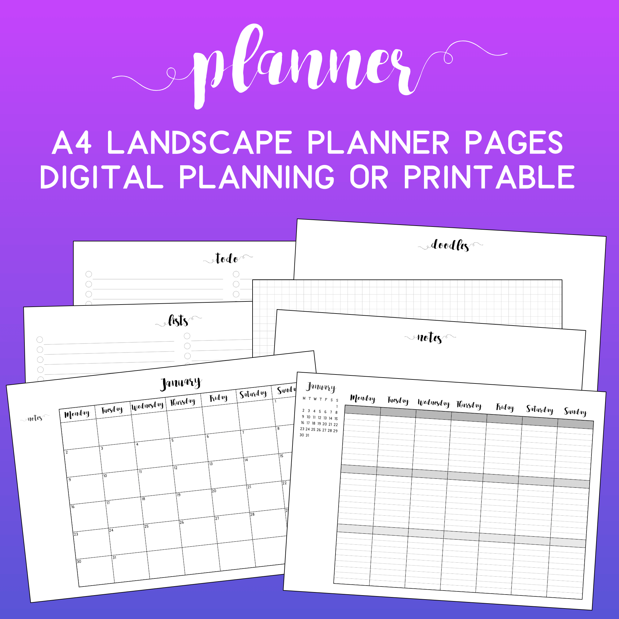Crazy image pertaining to free digital planner pdf