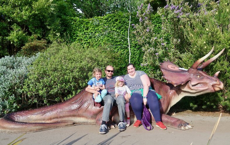 Our family at Jurassic Kingdom