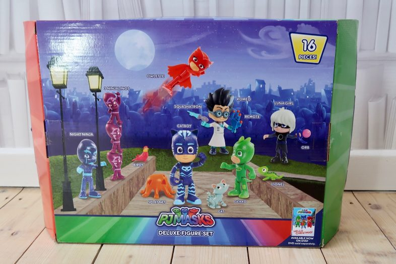 PJ Masks 16 piece figure set back of box