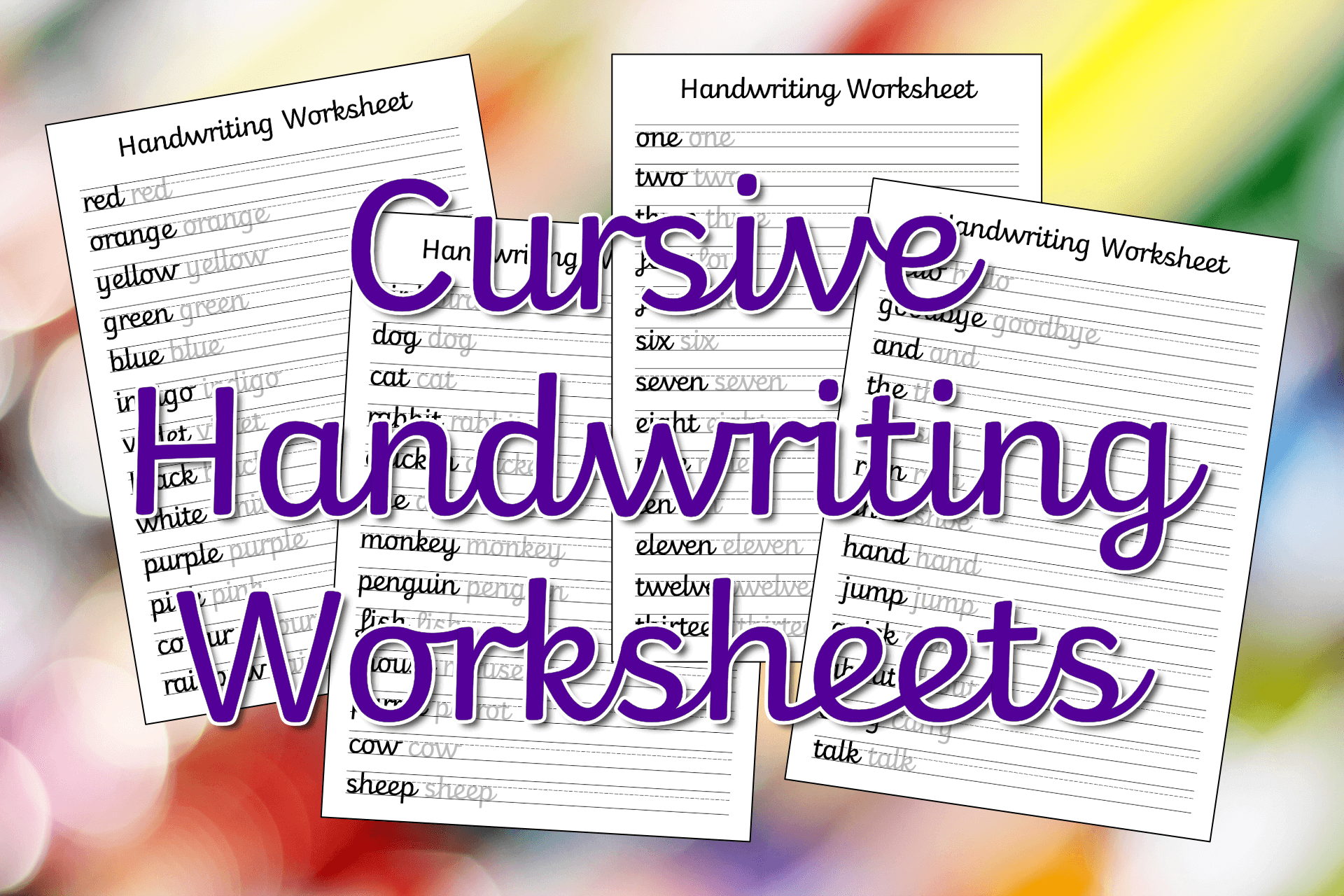 Free Printable Beginner Cursive Handwriting Worksheets 3d House