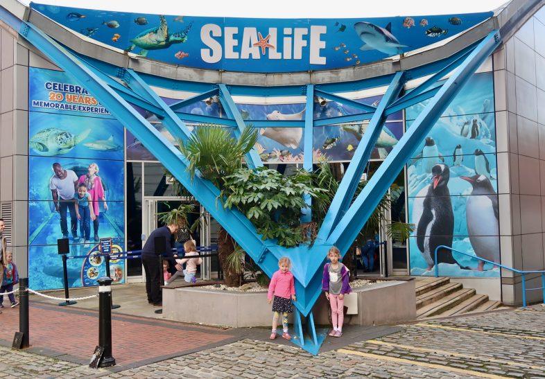 Georgie and Lydia at Sea Life Birmingham