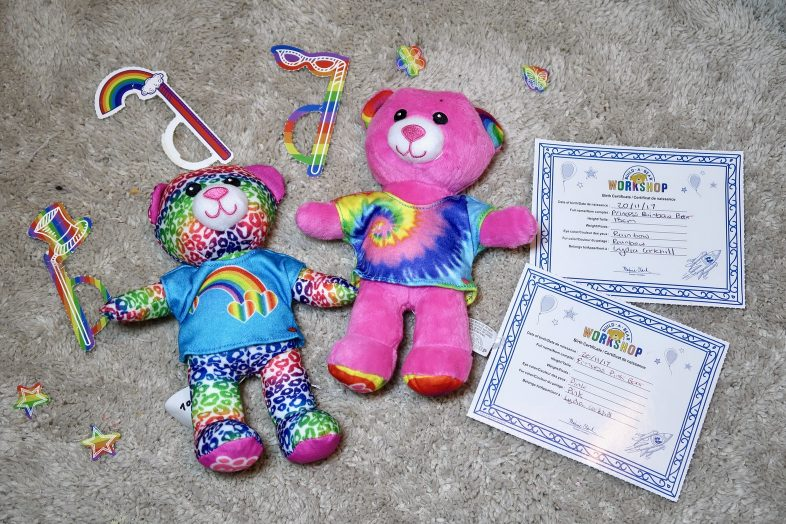 Build a Bear Stuffing Station finished bears
