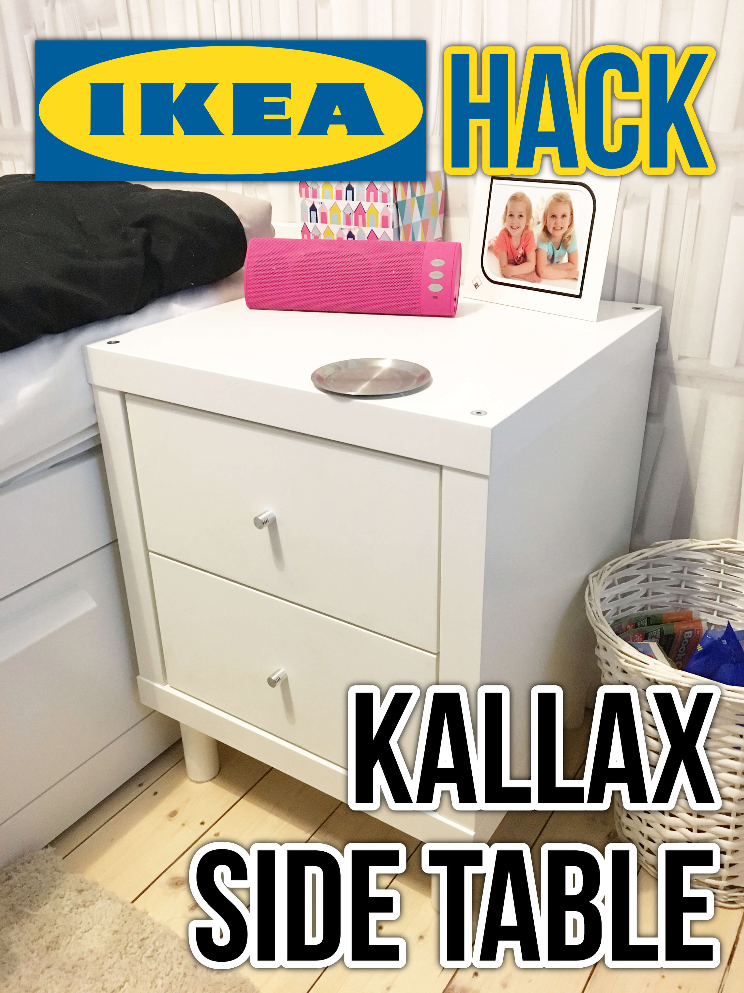 the latest 38b16 9bf7f Our Ikea Hack Kallax side table ⋆ Mama Geek