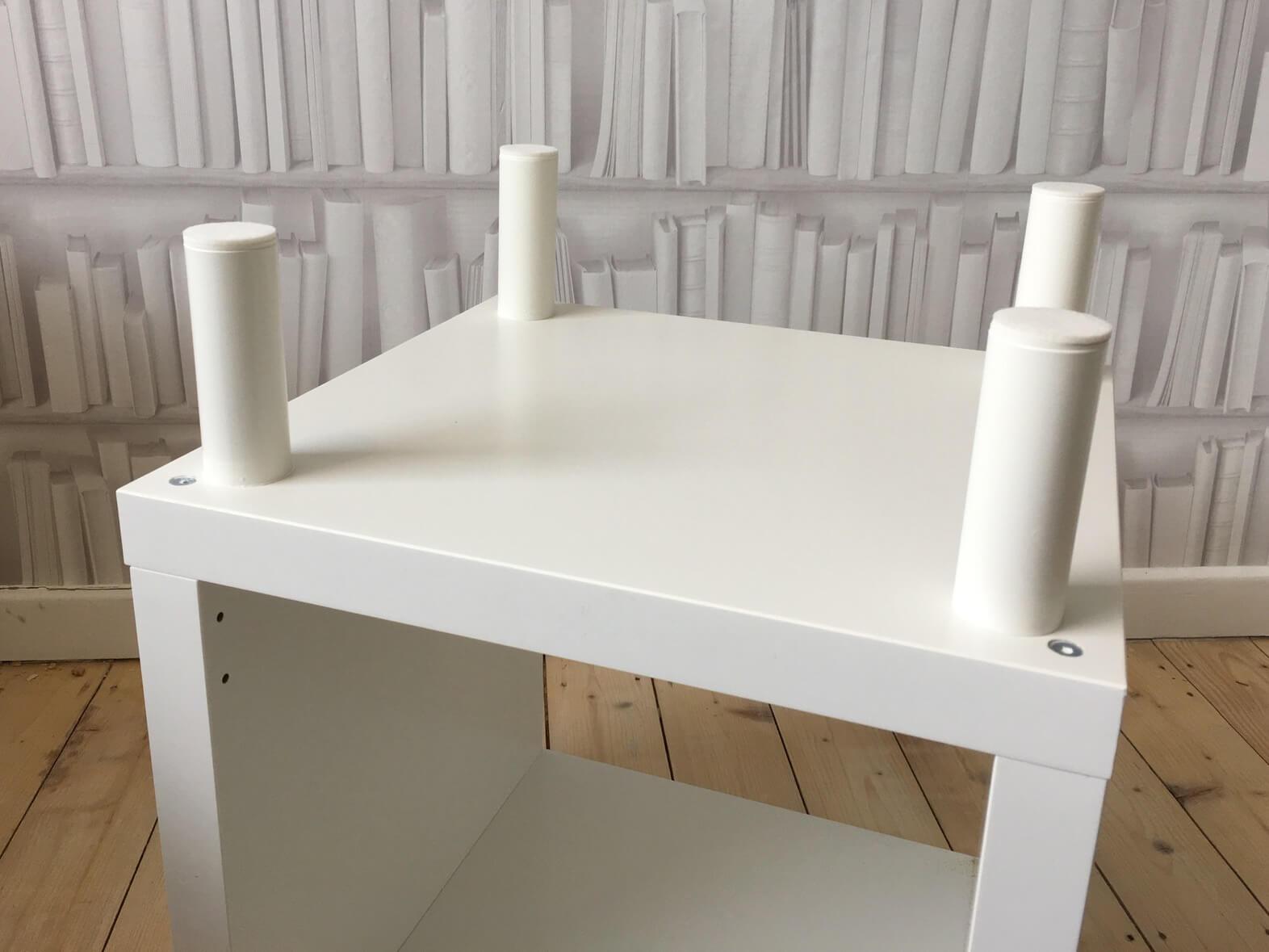 Our Ikea Hack Kallax Side Table Mama Geek