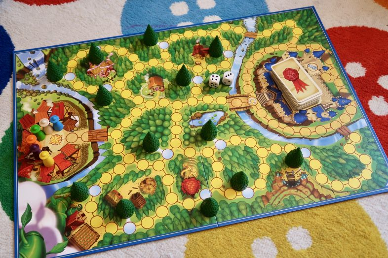 Enchanted Forest Board Game - board set up