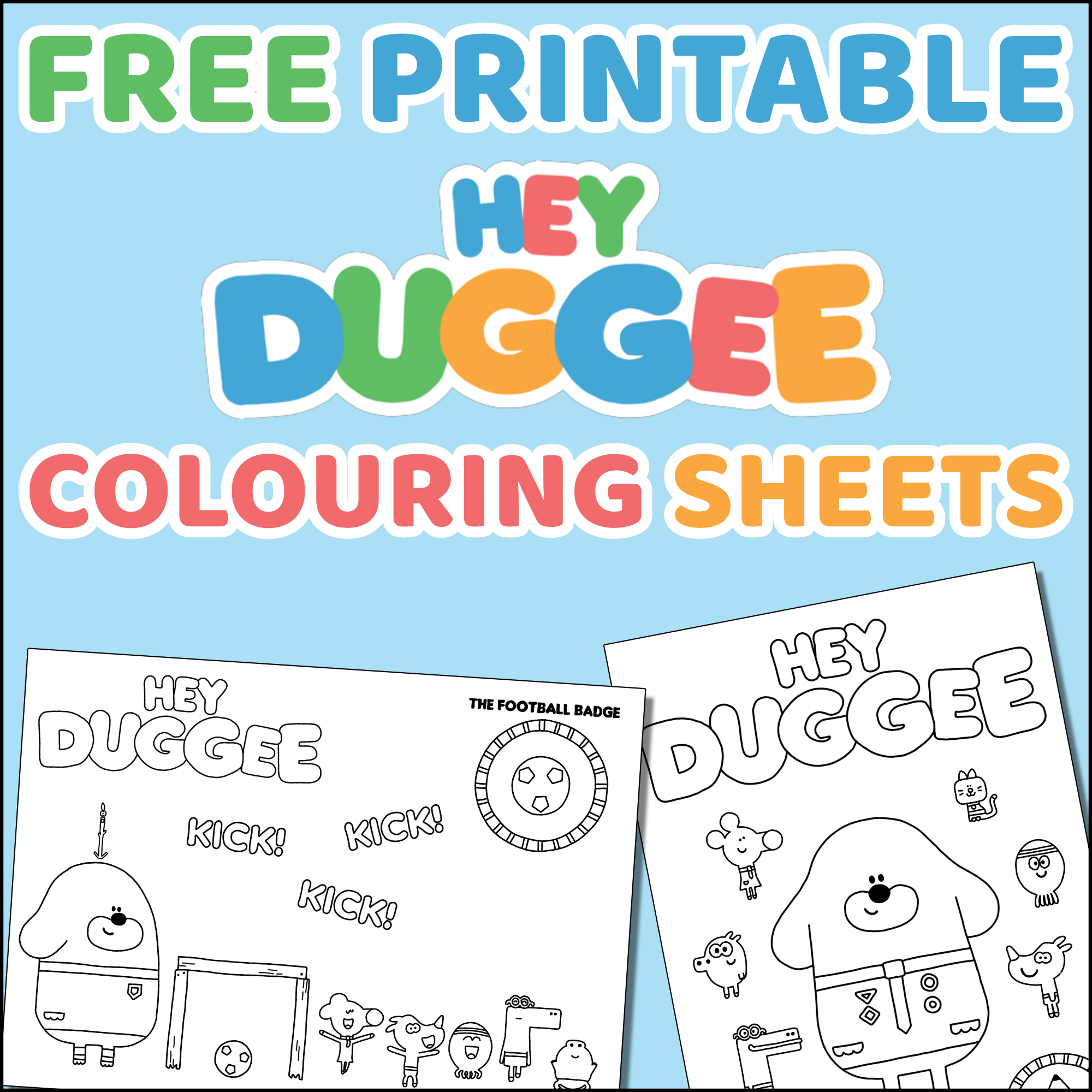 hey duggee coloring pages Hey Duggee Colouring Sheets   Free Printable ⋆ Mama Geek hey duggee coloring pages