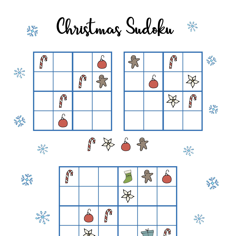 photo regarding Christmas Sudoku Printable named Totally free Xmas printables - Sudoku ⋆ Mama Geek