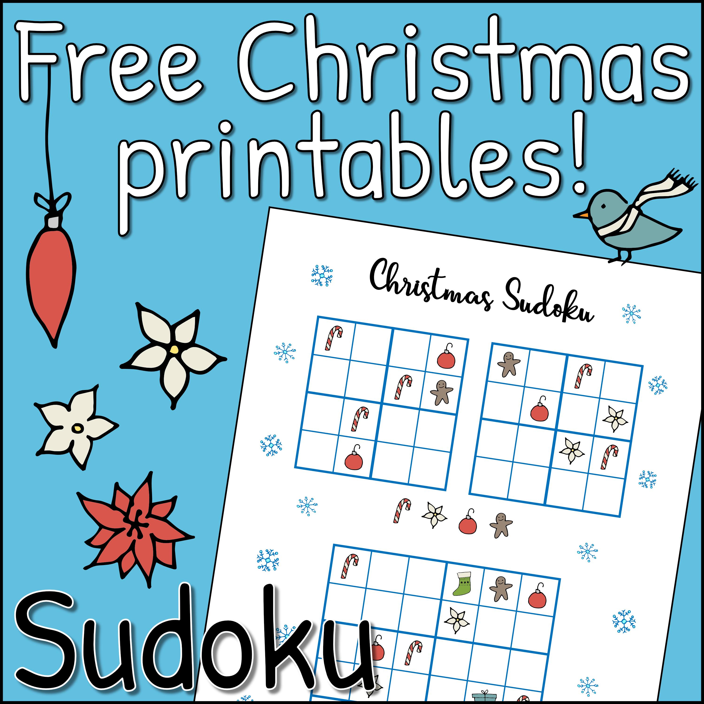 Christmas Sudoku.Free Christmas Printables Sudoku Mama Geek