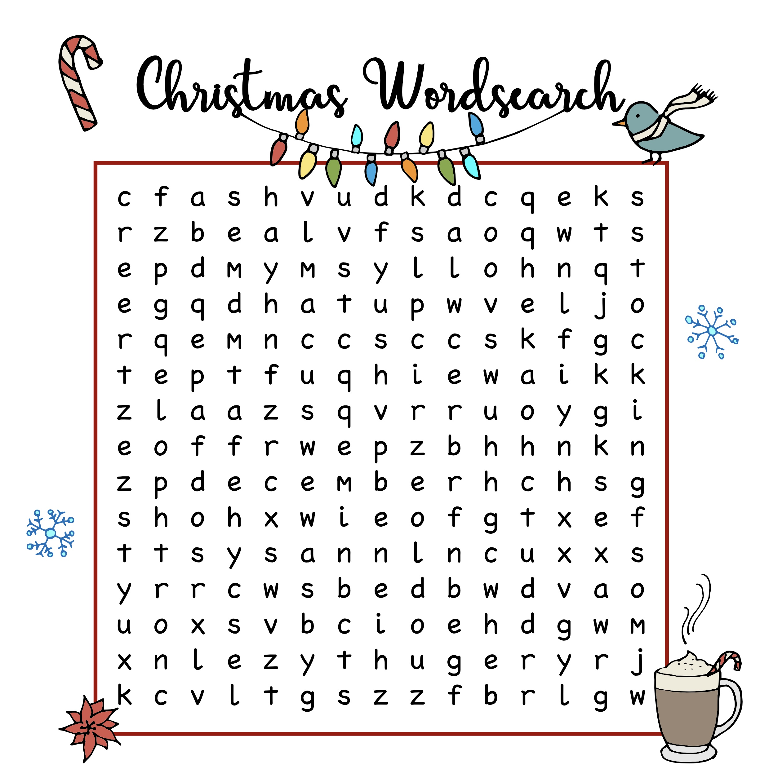 Free Christmas Printables Wordsearch Mama Geek
