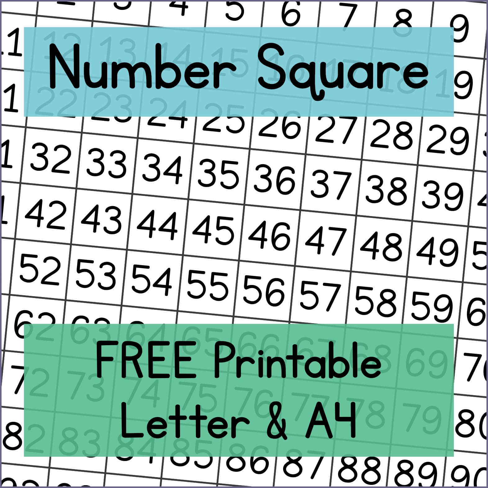 100 Number Square Free Printable Mama Geek