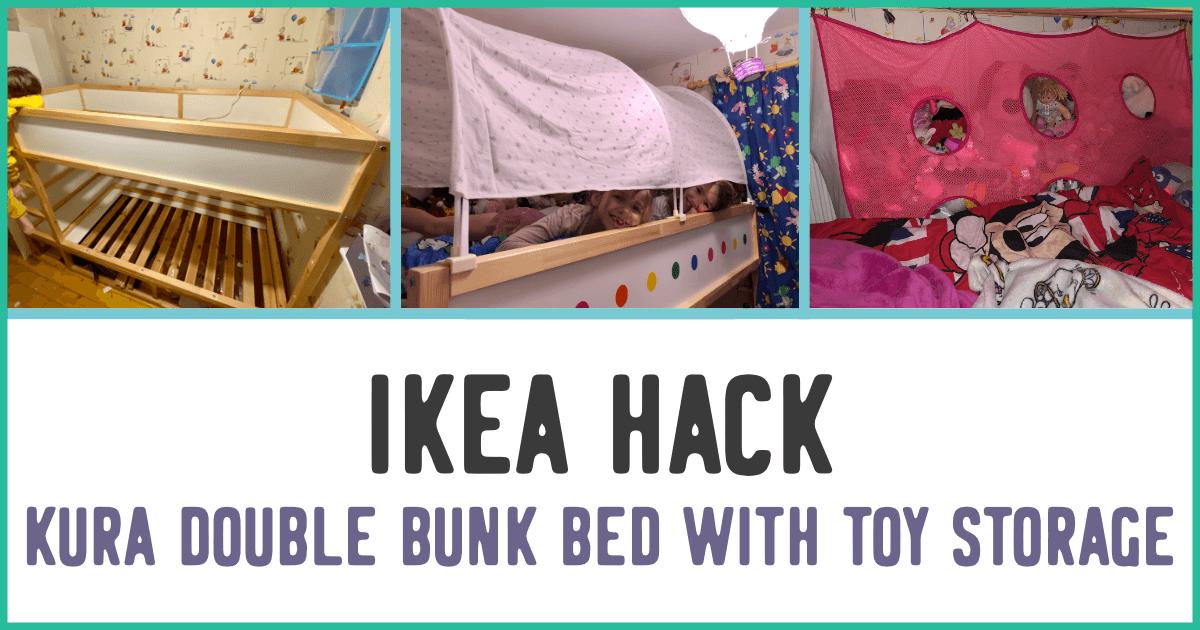 Ikea Hack Kura Double Bunk Bed With Toy Storage Mama Geek